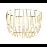 Round Wire Basket - GOLD - SMALL 20.5cm x 13cm