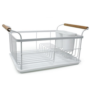 Danesco Dish Rack & Draining Board White