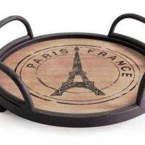 "Natural Living ""Paris"" Round Serving Tray10"""