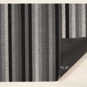Chilewich BIG MAT Even Stripe Shag MINERAL 36x60 inches