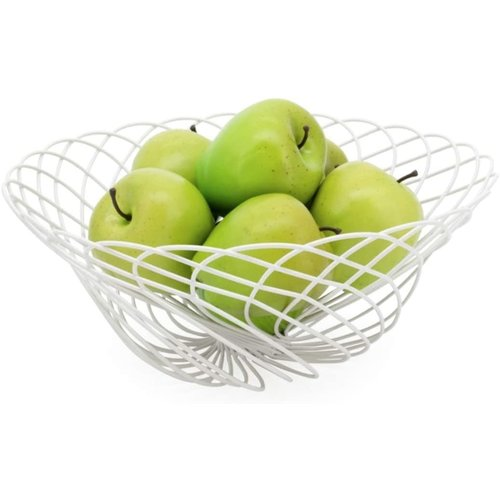 Torre & Tagus SPIRO Wire Fruit Basket WHITE