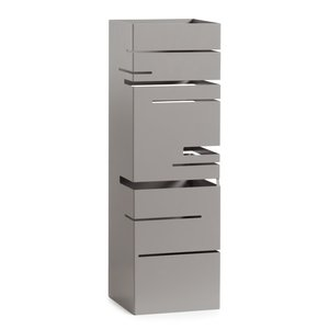 Torre & Tagus MATRIX Cutout Umbrella Stand - Grey