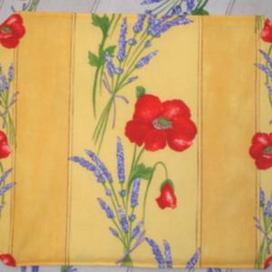L'Art de Vivre Inc. PLACEMAT Yellow Poppies. 100% Cotton