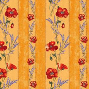 """L'Art de Vivre Inc. TABLECLOTH RECT. 60""""x86"""" Yellow Poppies.100% Cotton"""