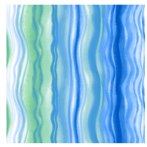 OCD Napkin Cocktail Paper Blue Waves