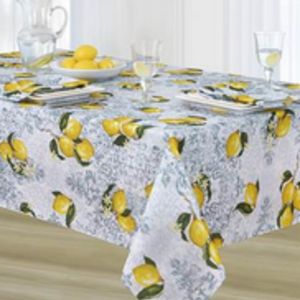 """Texstyles Deco Tablecloth Poly Rect 54"""" X 72"""" Limone - Yellow"""