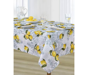 """Tablecloth Poly Rect 54"""" X 72"""" Limone - Yellow"""