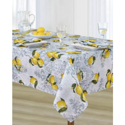 """Texstyles Deco Tablecloth Poly  Rect 60"""" X 90"""" Limone - Yellow"""