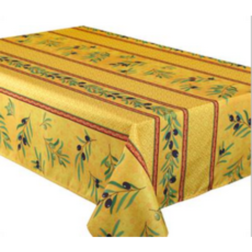 """Texstyles Deco Tablecloth Poly Rect 58"""" X 108"""" Olea - Yellow"""