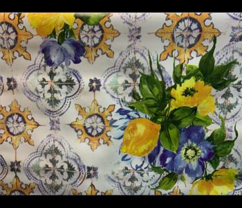 Italian Vinyl Tablecloth Tile