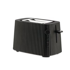 Alessi ALESSI Plisse Toaster 2-slice BLACK