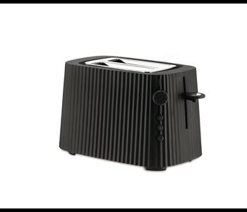 ALESSI Plisse Toaster 2-slice BLACK