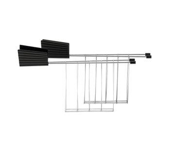ALESSI Toaster Rack/ Set of 2 BLACK