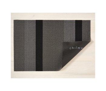 Big Mat Bold Stripe Shag SILVER/BLACK - 36x60 inches
