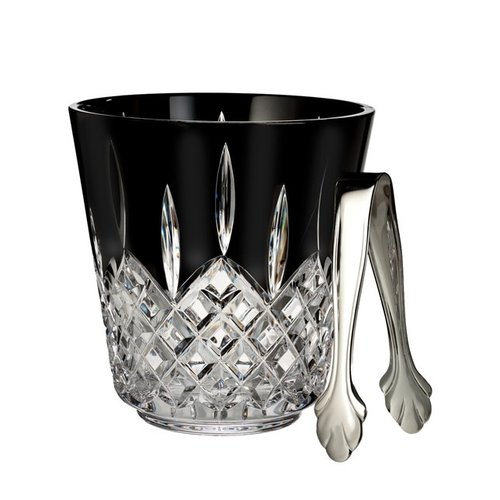 Waterford LISMORE Ice Bucket & Tongs BLACK