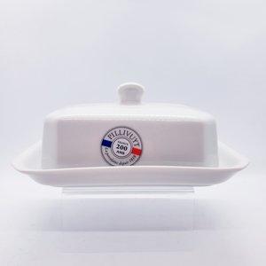 "PILLIVUYT PILLIVUYT Butter dish - 7"" x 4.5"" White"