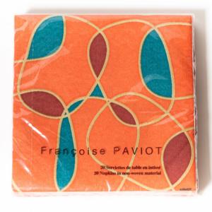 OCD Napkin Dinner PAVIOT Orange Swirl
