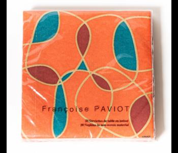 Napkin Dinner PAVIOT Orange Swirl