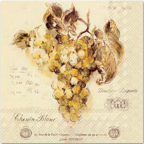 OCD Napkin Cocktail Paper Vin Blanc