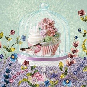 Carsim Napkin Lunch Paper Cupcake in Glass