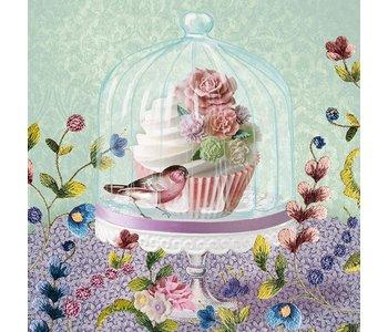 Napkin Lunch Paper Cupcake in Glass