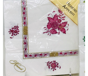 Napkin Lunch Paper Herend Apponyi Pink
