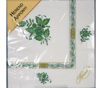 Napkin Lunch Paper Herend Apponyi Green