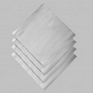 OCD Napkin Dinner Paper Moments Woven Silver