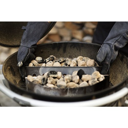 "Rosle Grilling Gloves Pair 16"" Leather Black/Grey ROSLE"