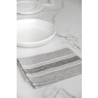 "Napkin Casa Charcola with White & Black 17"" x 17"""