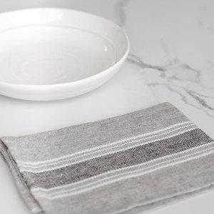 "Linenway Napkin Casa Charcola with White & Black 17"" x 17"""