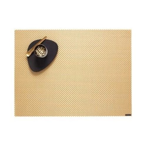 """Chilewich Placemat Basketweave GILDED 14"""" X 19"""""""