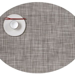 Chilewich Placemat Mini Basketweave Oval GRAVEL
