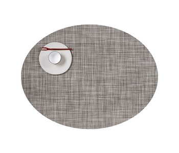 Placemat Mini Basketweave Oval GRAVEL