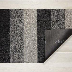 "Chilewich Big Mat Marbled Stripe Shag SALT & PEPPER 36"" X 60"""