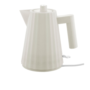 Alessi ALESSI  Plisse Electric Kettle - WHITE - Small