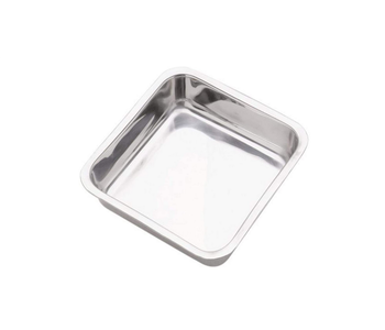 "Square Cake Pan Stainless Steel 8"""