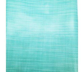 Italian Vinyl Tablecloth Basketweave Teal