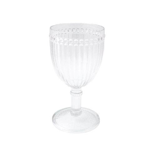 Le Cadeaux Milano Wine 12oz Glass Clear Polycarbonate