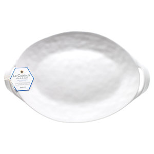 Le Cadeaux BIANCO Small Two Handled Oval Platter 38cm