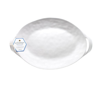 BIANCO Small Two Handled Oval Platter 38cm