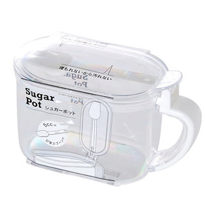 Nicetys Import JAPANESE CLEAR PLASTIC SUGAR CONTAINER W/ SPOON 650ml