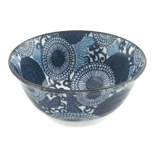 Nicetys Import JAPANESE Blue/Turquoise Design Bowl 532ml