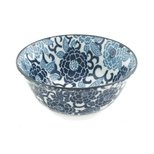 Nicetys Import JAPANESE Blue Floral Design Bowl 532ml