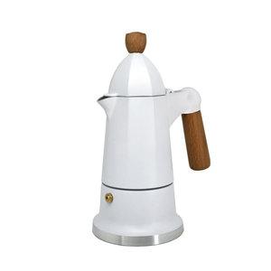 Café Culture SIENNA  Espresso Coffee Maker - 3 cup - White - CAFE CULTURE