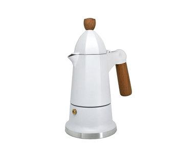 SIENNA  Espresso Coffee Maker - 3 cup - White - CAFE CULTURE