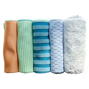 Full Circle Microfibre Essential Cleaning Cloth Mixed/Set of 5