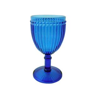 Le Cadeaux Milano Wine 12 oz Glass Blue Polycarbonate