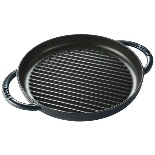 "Staub STAUB Round  Pure Grill pan 26cm/10"" LA MER"