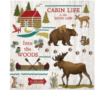 Napkin Lunch Paper CABIN LIFE